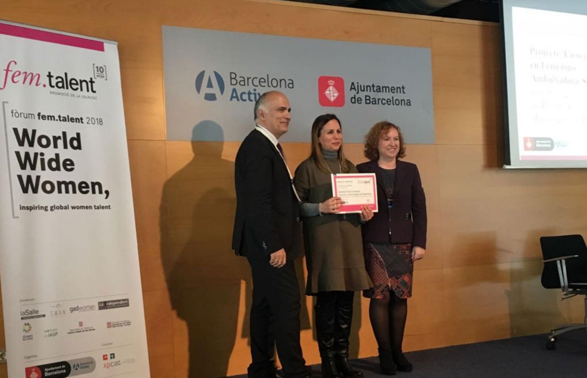 El proyecto Ciencia y Tecnología en femenino galardonado por los femtalent awards 2018